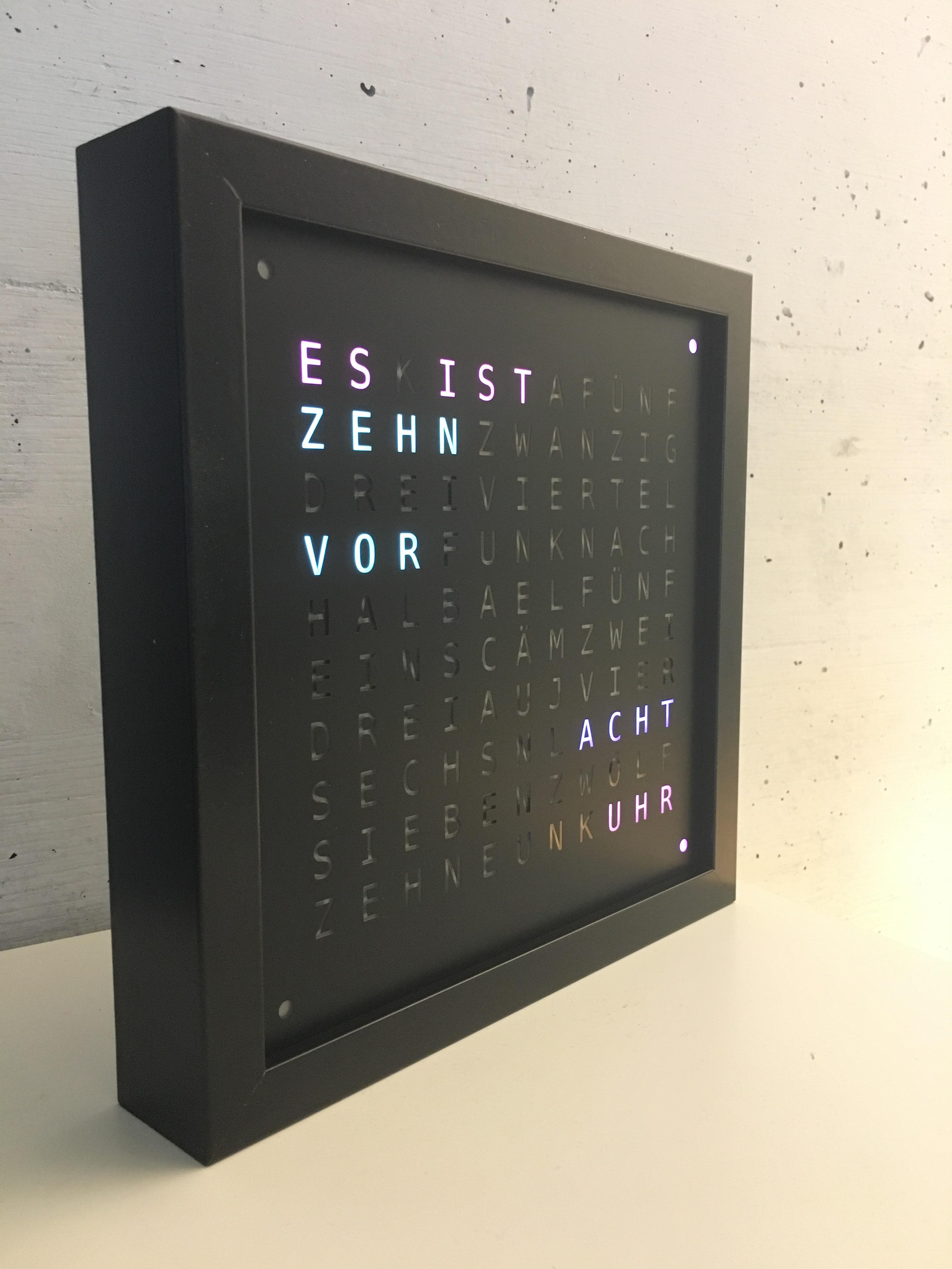 Wort-Uhr (Teil 1, Rahmen und LEDs) - Makerspace FabLab Rheinfelden ...